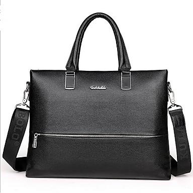 Men Bags All Seasons PU Shoulder Bag for Casual Outdoor Black Brown