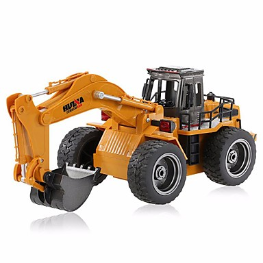 RC Car HUINA 1530 6 Channel 2.4G Excavator / Construction Truck 1:18 Remote Control / RC / Rechargeable / Electric