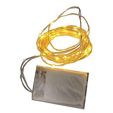 2m Lysslynger 20 LED Varm hvit / RGB / Hvit Batteri / IP65