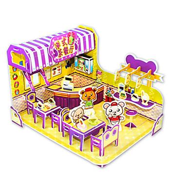 3D - Puzzle Holzpuzzle Modellbausätze Berühmte Gebäude Heimwerken Kartonpapier Klassisch Zeichentrick Kinder Unisex Geschenk