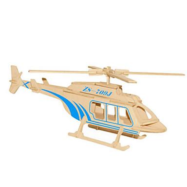 voordelige 3D-puzzels-3D-puzzels Metalen puzzels Modelbouwsets Helikopter DHZ Natuurlijk Hout Klassiek Kinderen Volwassenen Unisex Speeltjes Geschenk
