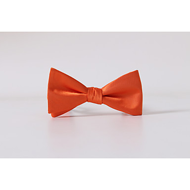 Men's Polyester Bow Tie,Solid Casual Solid All Seasons Orange