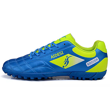 Soccer Shoes Men's Athletic Shoes Comfort PU Spring Fall Athletic Casual  Comfort Lace-up Blue Green Ruby Black Flat