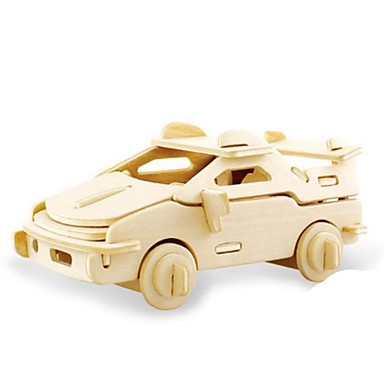 Toy Cars 3D Puzzles Jigsaw Puzzle Wood Model Dinosaur Tank Plane / Aircraft Car 3D Animals DIY Wood Classic Unisex Gift