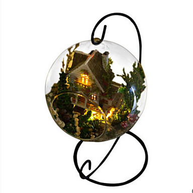 Baller GDS Hus Glass Naturlig Tre Klassisk Romantikk Deler Unisex Gave