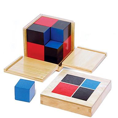Ferramentas de Ensino Montessori Blocos de Construir Brinquedo Educativo Educação Quadrada Crianças Dom