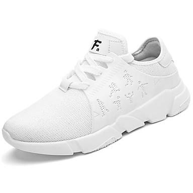 Miesten kengät PU Kevät Syksy Comfort Lenkkitossut varten ulko- Valkoinen Musta Musta/valkoinen
