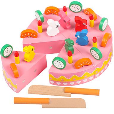 Comida de Brinquedo Brinquedos de Faz de Conta Brinquedos Circular Bolo Fruta Magnética De madeira Peças