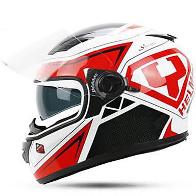 YOHE YH-970 Motorcycle  Helmet Double Lens Helmet Men & Women Winter Helm Cold Boots Electric Car Winter 970 White Powder By Pink Order