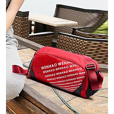 Unisex Travel Bag PU Oxford Cloth Polyester All Seasons Casual Outdoor Rectangle Zipper Blue Red