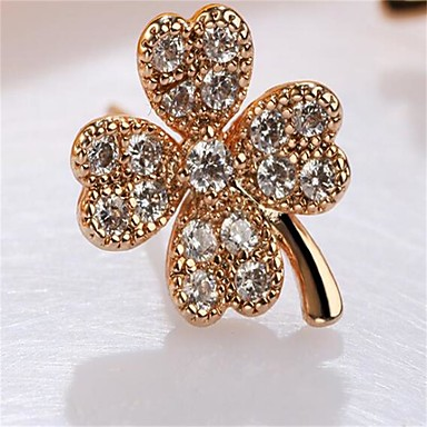 Women's Drop Earrings Cubic Zirconia Fashion Alloy Flower Jewelry For Wedding Party/Evening Event/Party Dailywear Festival