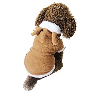 Hund Kostume Hundeklær Jul Ensfarget Hvit Brun Tilfældig Farve Kostume For kjæledyr