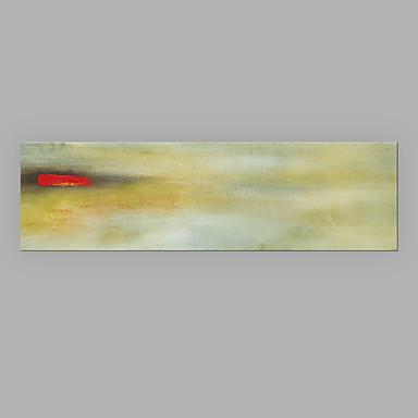 Maalattu Abstrakti Horizontal, Moderni/nykyaikainen Kangas Hang-Painted öljymaalaus Kodinsisustus 1 paneeli