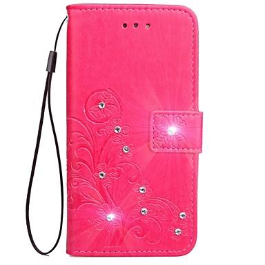 Capinha Para Samsung Galaxy S8 Plus S8 Porta-Cartão Carteira Com Strass Com Suporte Flip Magnética Estampada Com Relevo Capa Proteção