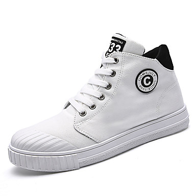 Men's Shoes PU Spring Fall Comfort Sneakers For Outdoor White Black Gray