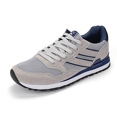 Homens sapatos Couro Ecológico Primavera Outono Solados com Luzes Conforto Tênis Cadarço para Atlético Cinzento Azul