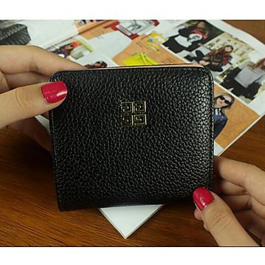 Women Money Clip PU All Seasons Casual Square Zipper Gold Black Silver