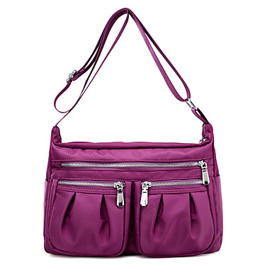 Women's Bags PU Nylon Crossbody Bag for Casual Spring All Seasons Blue Black Purple