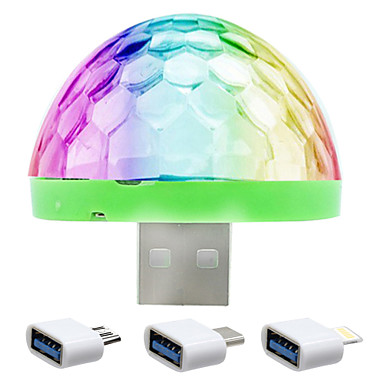 YWXLIGHT® 1 pc USB Lights LED Night Light Sensor Color-Changing