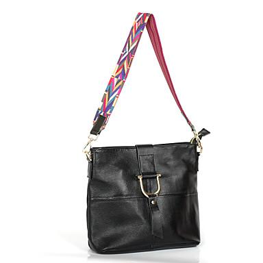 Women Bags Cowhide Crossbody Bag Metallic Buckle for Formal Office & Career All Seasons Black