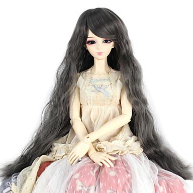 Syntetiske parykker Kinky Curly Dame Doll Wig Syntetisk hår