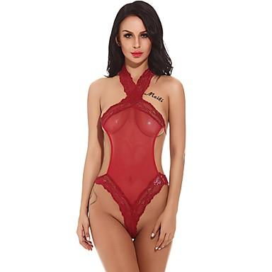 Mulheres Sexy Super Sensual Roupa de Noite Sólido