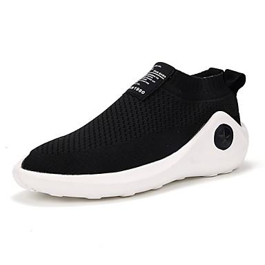 Homens sapatos Materiais Customizados Primavera Outono Conforto Tênis para Atlético Casual Ao ar livre Preto Vermelho