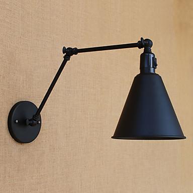 Land Retro Rød Swing Arm Lights Til Metall Vegglampe 110-120V 220-240V 60W