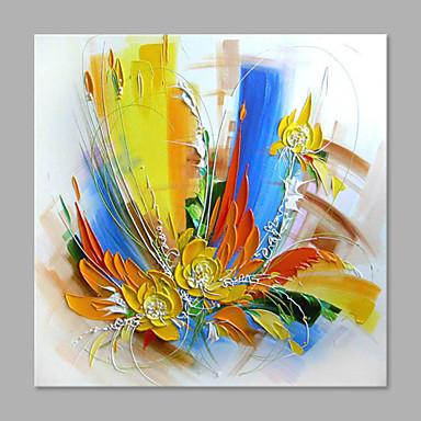 Pintados à mão Floral/Botânico Vertical, Abstracto Moderno/Contemporâneo Tela de pintura Pintura a Óleo Decoração para casa 1 Painel