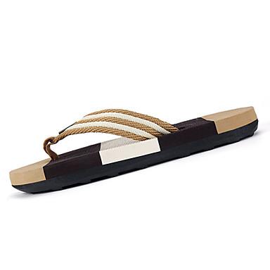 Homens sapatos Borracha Verão Conforto Chinelos e flip-flops para Ao ar livre Preto Marron Azul