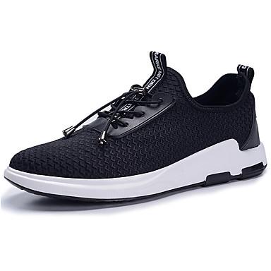 Homens sapatos Malha Respirável Couro Ecológico Primavera Verão Solados com Luzes Conforto Tênis Cadarço para Atlético Casual Ao ar livre