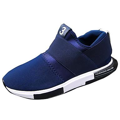 Homens sapatos Borracha Primavera Outono Conforto Tênis Cadarço para Ao ar livre Preto Laranja Azul
