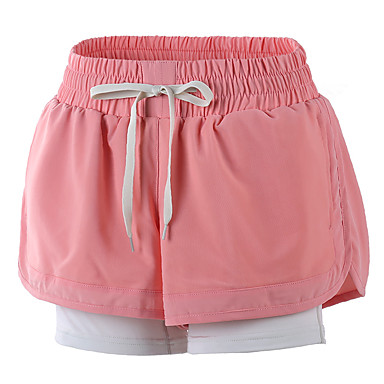 Women's Running Shorts Fitness, Running & Yoga Quick Dry Shorts Bottoms Yoga Exercise & Fitness Running Yan pink