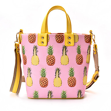 Women Tote PU All Seasons Event/Party Casual Formal Office & Career Barrel Zipper White Blushing Pink