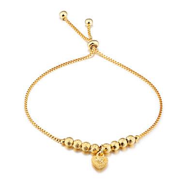 Mulheres Pulseiras em Correntes e Ligações - Chapeado Dourado Luxo, Fashion Pulseiras Dourado Para Casamento / Festa / Aniversário