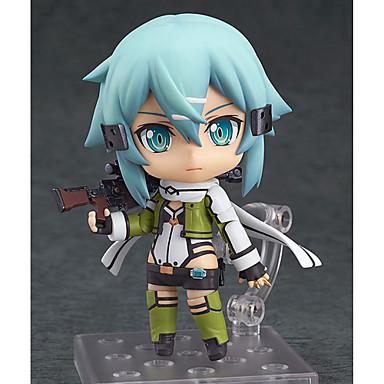 Figuras de Ação Anime Inspirado por Sword Art Online Fantasias PVC 10 cm CM modelo Brinquedos Boneca de Brinquedo Homens / Mulheres