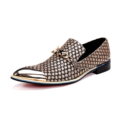 Men's Shoes Nappa Leather Spring / Summer / Fall Comfort / Novelty Loafers & Slip-Ons Walking Shoes Black / Yellow / Dress Loafers