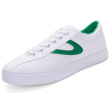 Men's Shoes PU Spring Summer Comfort Sneakers for Casual Black Red Green