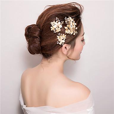 Imitation Pearl Rhinestone Hair Clip Headpiece Classical Feminine Style