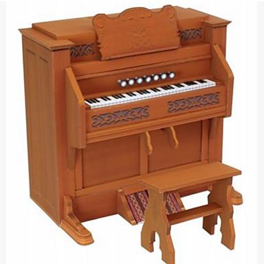 Quebra-Cabeças 3D / Maquetes de Papel / Brinquedos de Montar Piano / Instrumentos Musicais Faça Você Mesmo / Artigos de mobiliário / Simulação Cartão de Papel Duro Clássico Crianças Unisexo Dom