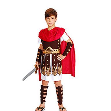 Roman Costumes Egyptian Costume Pharaoh Cosplay Cosplay Costume Masquerade Party Costume Kid's Boys' Halloween Carnival Children's Day