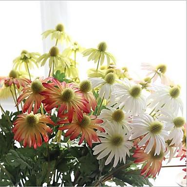 5 Peças 5 Ramo Seda Margaridas Flores artificiais
