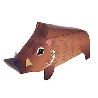 voordelige 3D-puzzels-3D-puzzels Bouwplaat Modelbouwsets Varken Dieren DHZ Hard Kaart Paper Klassiek Kinderen Unisex Speeltjes Geschenk