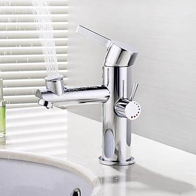 Deck Mounted Ceramic Valve Single Handle One Hole Chrome, Bathroom Sink Faucet