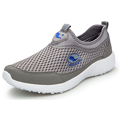 Homens sapatos Couro Ecológico Primavera Outono Solados com Luzes Conforto Tênis Caminhada para Atlético Cinzento Cinzento Escuro Azul