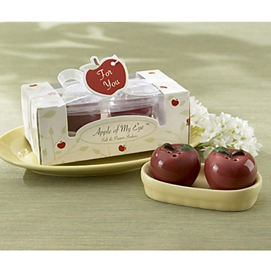 praktiske favoriser - 1box / sett - mini apple salt og pepper shakers sett fest favoriserer