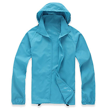 Women's Hiking Raincoat Outdoor Fast Dry Anti-Wear Quick Dry Windproof Ultraviolet Resistant Top Camping / Hiking Fishing Climbing Running