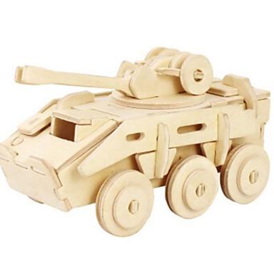 Robotime 3D Puzzle Jigsaw Puzzle Wood Model Tank Lion DIY Wood Natural Wood Kid's Unisex Gift