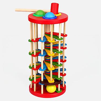Hammering / Pounding Toy Baller Klinkekulebaner Baby- og småbarnsleke Pedagogisk leke Tre Barne Gave 1pcs