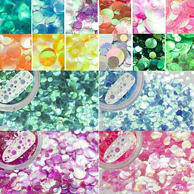 Glitter Powder Nail DIY Tools Sequins 3D / 12 Colors nail art Manicure Pedicure Classic Daily